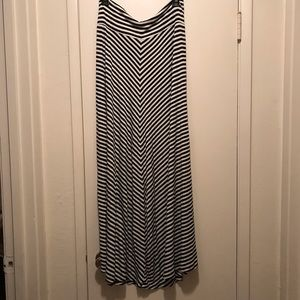 AGB Striped Maxi Skirt